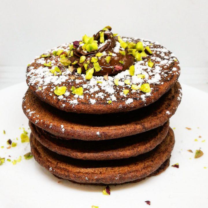 Pancakes al cioccolato fondente